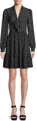 Kate Spade Scatter Dot Self-Tie V-Neck Shirt Dress