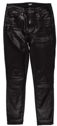 Paige Coated Mid-Rise Jeans