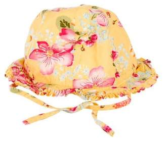 Catimini Girls' Floral Bucket Hat