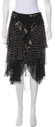 Jason Wu Silk Floral Skirt