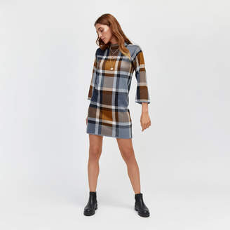 Warehouse Check T-Shirt Knitted Dress