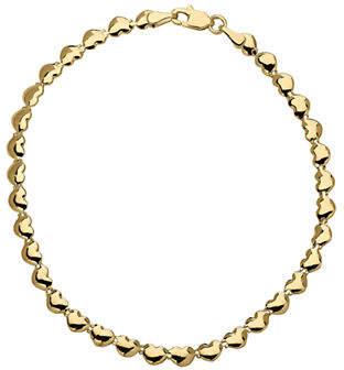 Tag Heuer FINE JEWELLERY 14k Yellow Gold Heart Bracelet