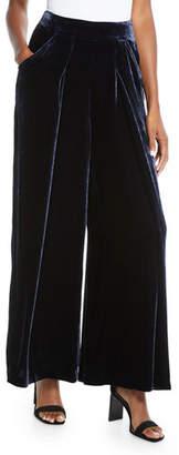Eileen Fisher Velvet Wide-Leg Pants, Petite