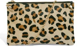 Next Womens Oasis Leopard Leather Leoni Clutch