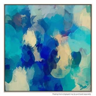 United Artworks Blue Mondays Canvas Print With Floating Frame