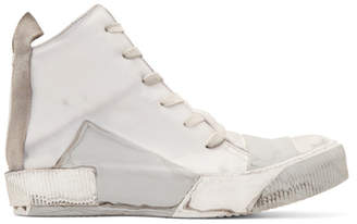765d1163061d Boris Bidjan Saberi Grey Kangaroo High-Top Sneakers