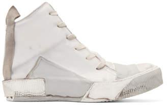 Boris Bidjan Saberi Grey Kangaroo High-Top Sneakers