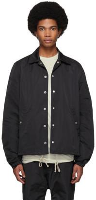 Rick Owens Black Snap Front Jacket
