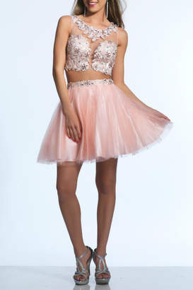 Dave & Johnny Two-Piece Tulle Dress