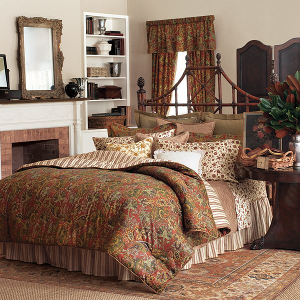 Chaps home chandler paisley bedding coordinates