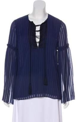 Laundry by Shelli Segal Linda Allard Ellen Tracy Striped Long-Sleeve Top