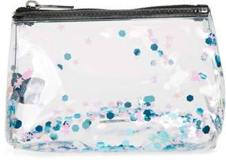 Skinnydip Zuri Liquid Glitter Makeup Bag