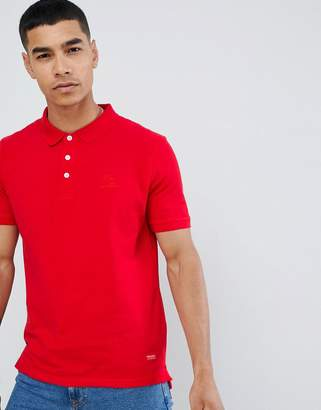 Pull&Bear Join Life polo in red with sunset embroidery