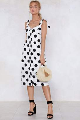 Nasty Gal Dot It Covered Polka Dot Dress