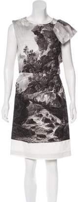 Dries Van Noten Landscape Print Sheath Dress