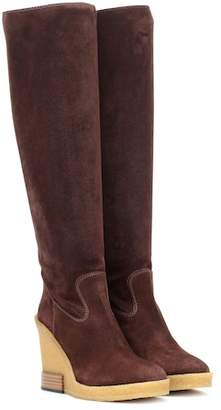 Tod's Suede wedge boots