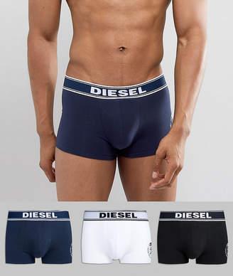Diesel Large Logo 3 Pack Boxers