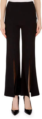 Roland Mouret Parkgate Front-Slit Cropped Pants