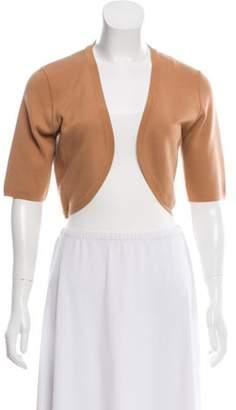 Michael Kors Wool Open Front Cardigan Tan Wool Open Front Cardigan