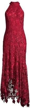 Shoshanna Grazie Floral Lace Halter Dress