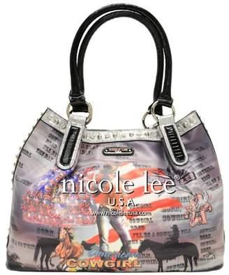 Nicole Lee Cowgirl Flag Hobo Bag