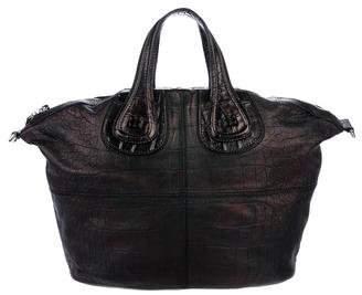 Givenchy Metallic Embossed Leather Nightingale Satchel