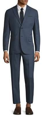 Michael Bastian Gray Label Wool Mini Checkered Peak Lapel Suit