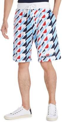 Tommy Hilfiger Geometric-Print Cotton Blend Drawstring Shorts