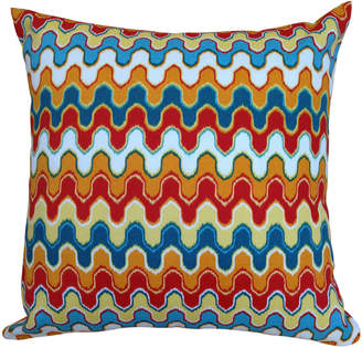 "Yellow Front Door Outdoor Cushion ""Desert Wave"""