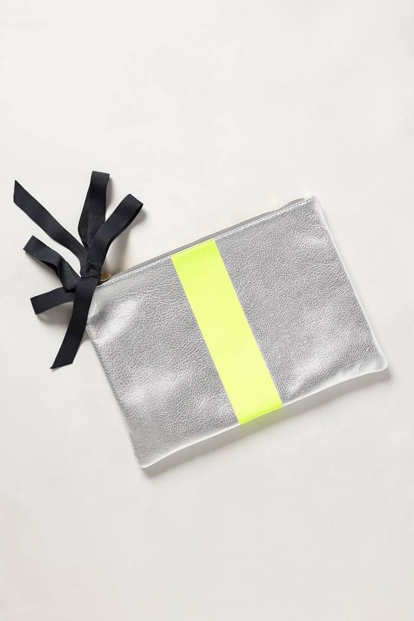 Anthropologie Clare V Mont-Royal Striped Pouch