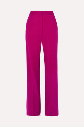 Lela Rose Wool-blend Cady Wide-leg Pants - Magenta