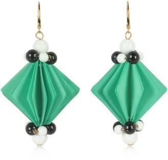 Marni Plastic Earrings W/beads