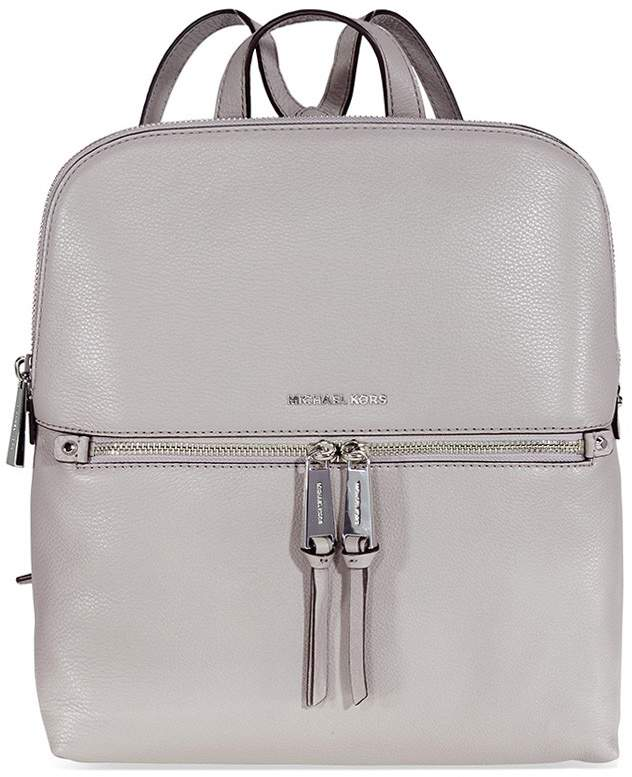 Michael Kors Rhea Leather Backpack - Pearl Grey - ONE COLOR - STYLE