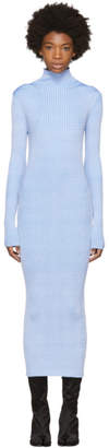 Maison Margiela Blue Thin Rib Dress