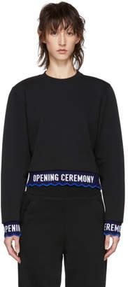 Opening Ceremony Black Scalloped Logo Sweatshirt
