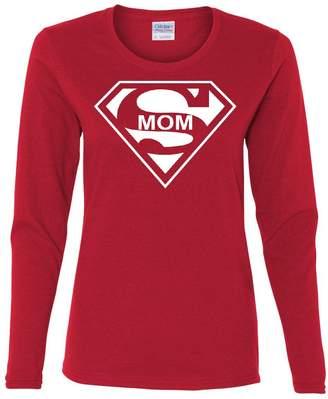 DAY Birger et Mikkelsen Tee Hunt Super Mom Funny Long Sleeve T-Shirt Superhero Parody Mother's 2XL