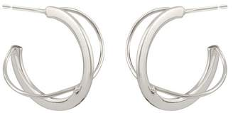 Oliver Bonas Caspian Silver Twist Hoop Earrings