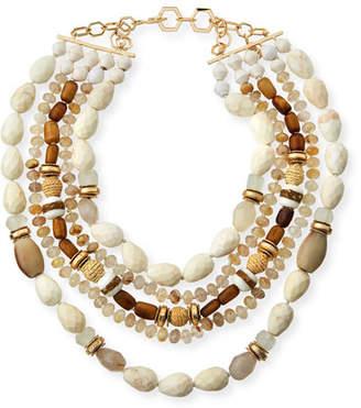 Akola Five-Strand Beaded Statement Necklace