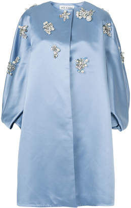 Dice Kayek pearl embellished oversized jacket