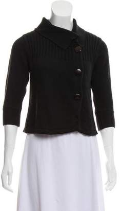 Tibi Rib Knit Crop Sweater