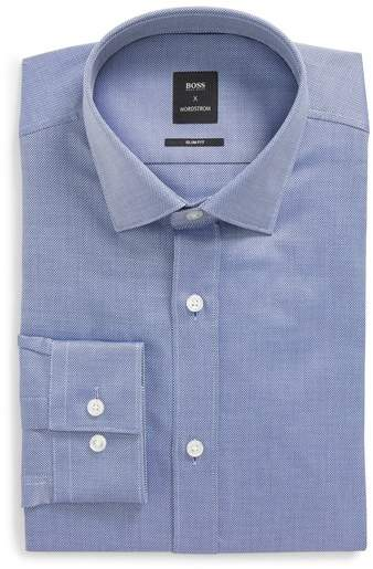 x Nordstrom Isaak Slim Fit Solid Dress Shirt