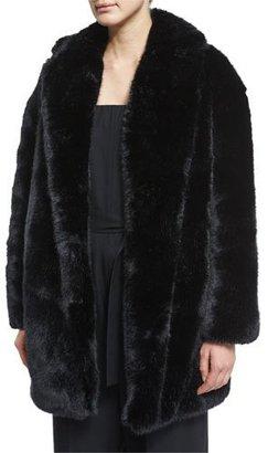 McQ Alexander McQueen Faux-Fur Coat, Black $995 thestylecure.com