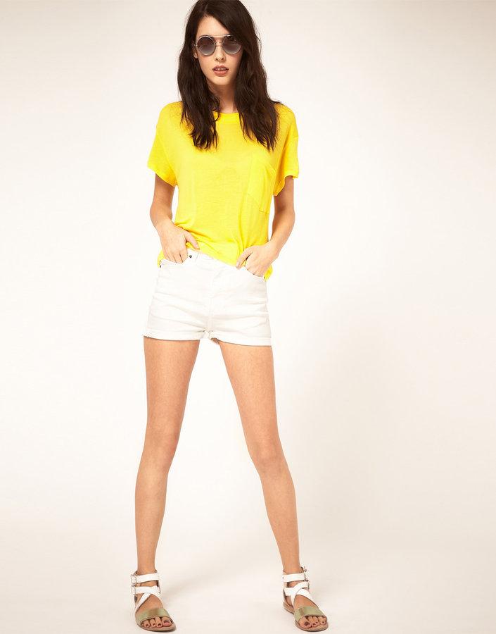 Cheap Monday Denim Shorts With High Waist