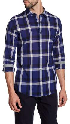 Vince Melrose Plaid Trim Fit Shirt