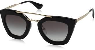 Prada Women's Gradient PR09QS-1AB0A7-49 Cat Eye Sunglasses