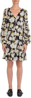 The Kooples Hortensia-Print A-Line Dress