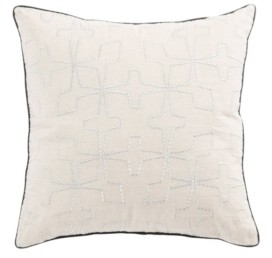 Jaipur Nikki Chu By Living Greta Cream/Silver Geometric Poly Throw Pillow 22""