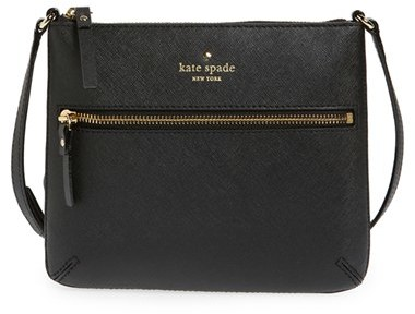 Kate Spade New York 'Tenley' Saffiano Leather Crossbody Bag - Black