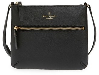 Kate Spade New York 'Tenley' Saffiano Leather Crossbody Bag - Black $178 thestylecure.com