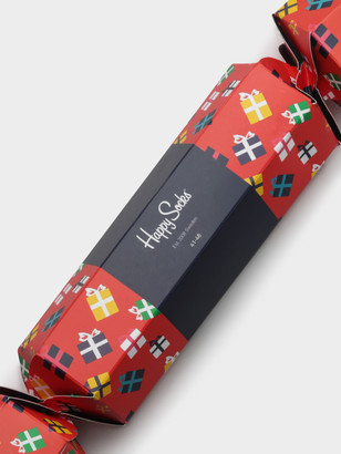 Happy Socks Gift Cracker 2-Pair Sock Set in Red